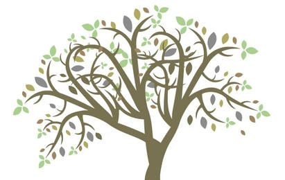 Bunter Baum des Vektors