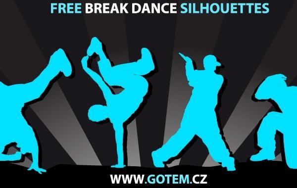 Siluetas de breakdance