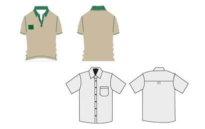 T-shirt uniformes de trabalho