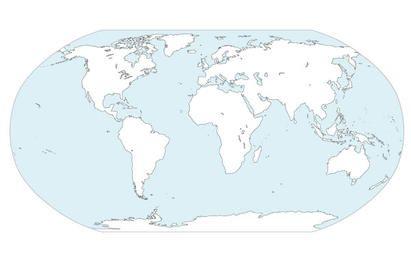 Vector de mapa de continentes del mundo