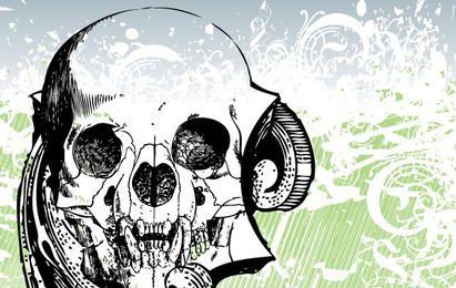 Vector cráneo grungry