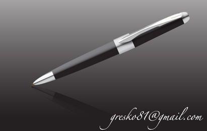 Sleek Black Silver pen
