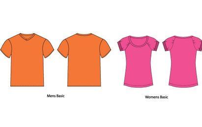Modelos de t-shirt de vetor