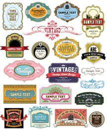Numerosas colecciones de etiquetas vintage