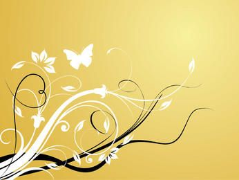 Classic Style Swirling Floristic Background