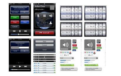 Elementos do iPhone de vetor & botões