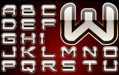Alfabeto brillante vector