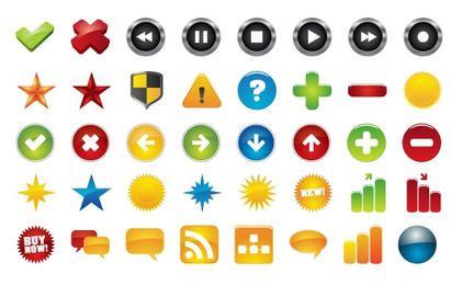Colección de iconos básicos