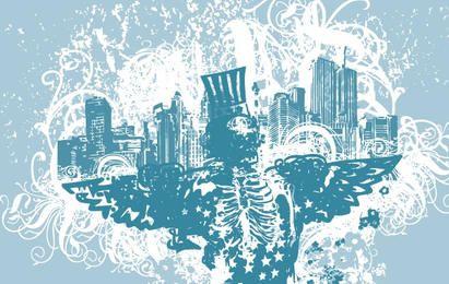 Cidade dos Anjos ilustração vetorial
