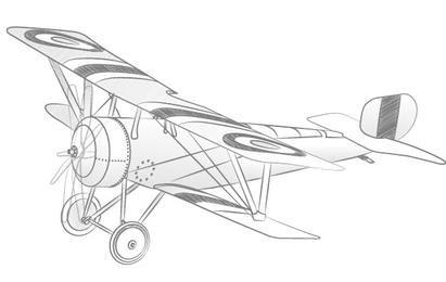 Avião de vetor