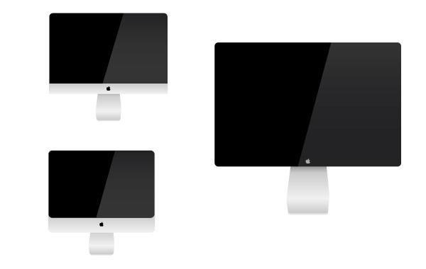 Conjunto de monitores mac