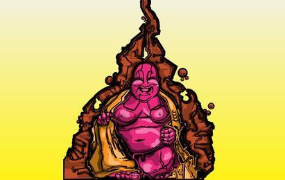 Purple Buddah Illustration