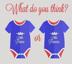 Blau-Rot-vereinfachte königliche Baby-Abnutzung