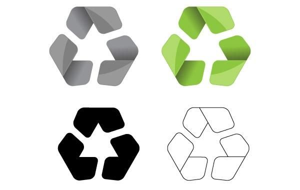 Modern Recycle Symbol Vector Vector Download