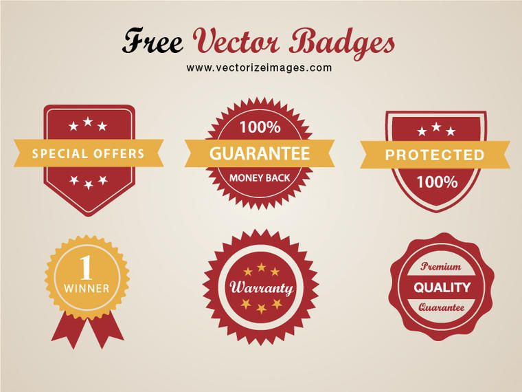 Classy Conceptual Red Badge Pack