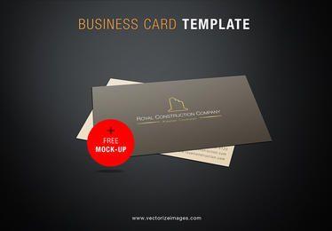 Maquete de cartão de empresa de construção