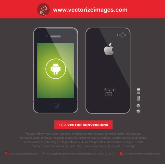Realistic Black iPhone 5 Front & Back