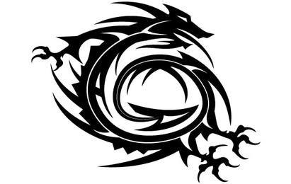 Dragón estilo tribal vector