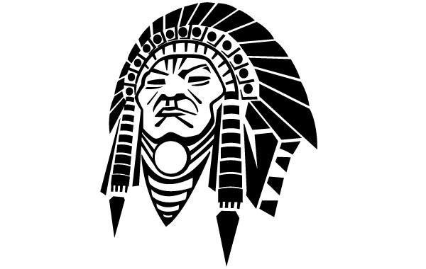 Nativo americano vector face descargar vector - Fogli da colorare nativo americano ...