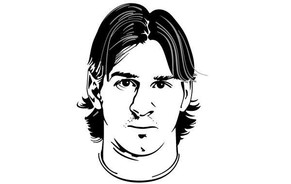Lionel messi vector portrait