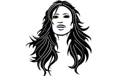 Girl With Black Hair Vector