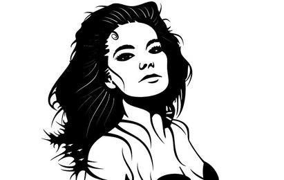 Bjork Portrait Graphic