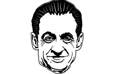 Retrato de vector de Sarkozy