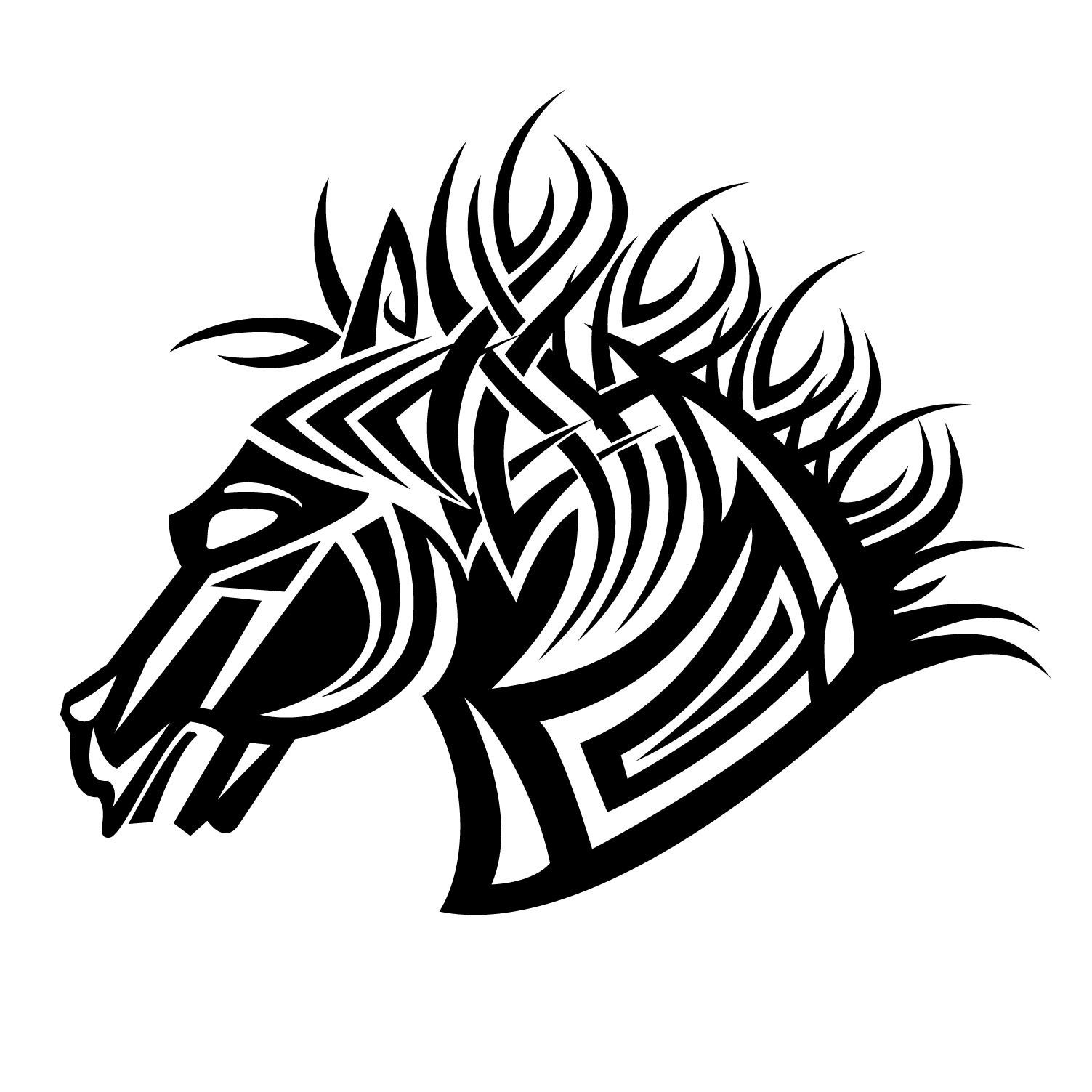 Tribal horse vector