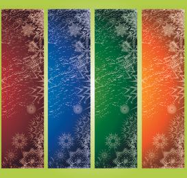 Grungy Xmas Banner Background