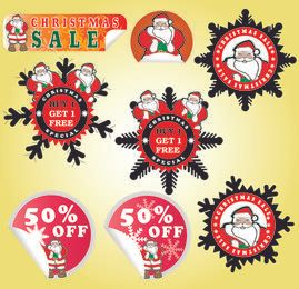Adorable paquete de pegatinas promocionales de Navidad