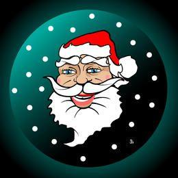 Funky ilustrado cara de Papá Noel