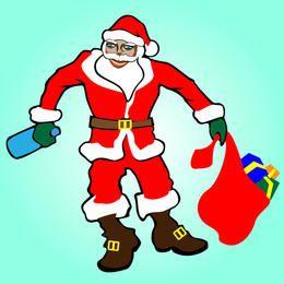 Künstlerischer betrunkener Weihnachtsmann