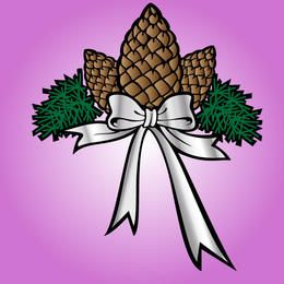 Flor de Navidad decorativa con cinta