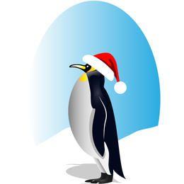 Feliz pinguino de santa