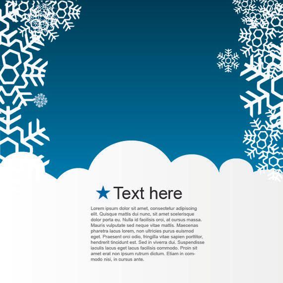 Azul Nevado Plantilla de Navidad de diseño - Descargar vector