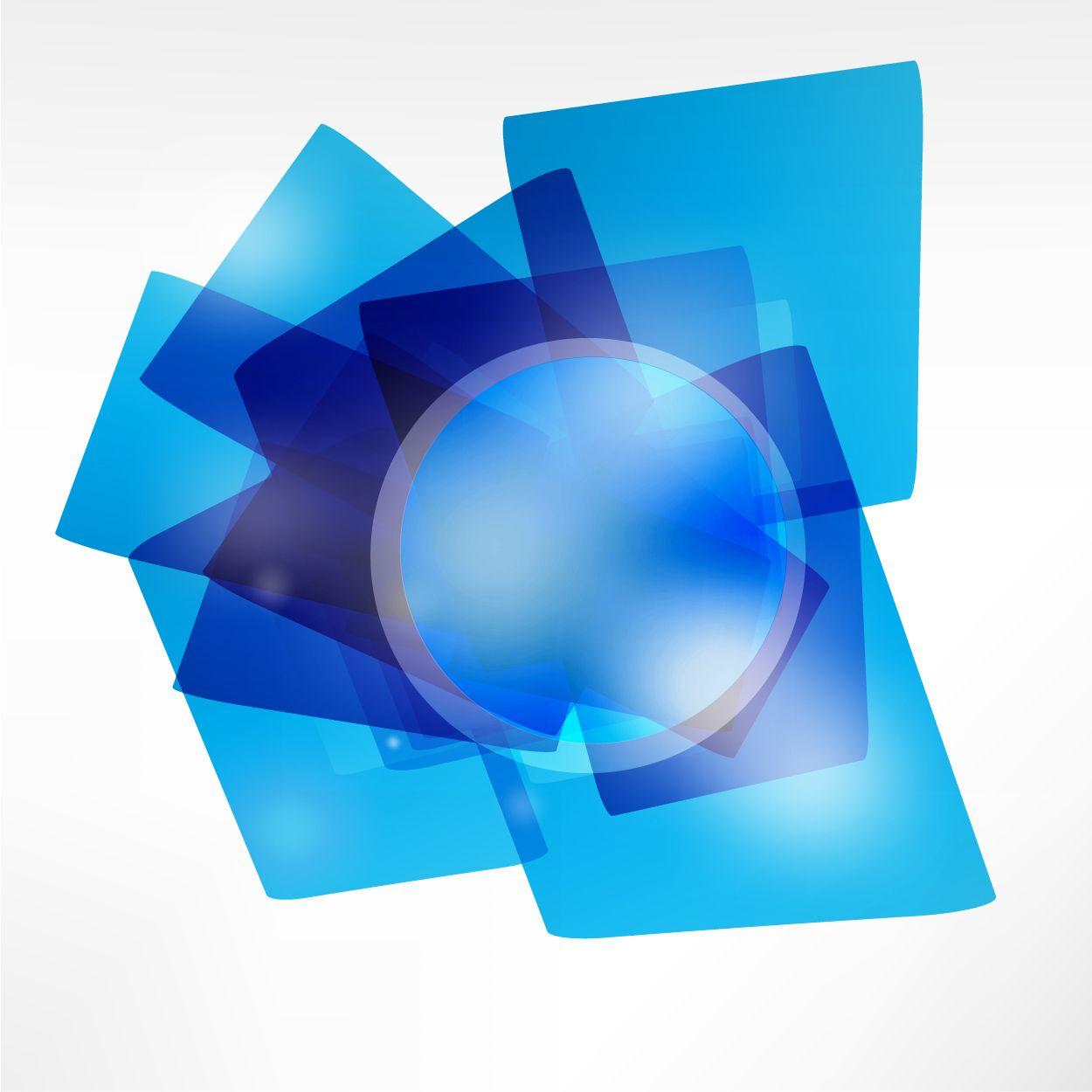 transparent blue geometric shape background - vector download