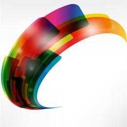 Formas coloridas abstratas criativas entortadas