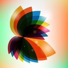 Resumen multicolor girado fluorescente hojas