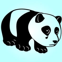 Schwarzer u. Weißer flippiger trauriger Panda