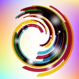 Fondo redondeado colorido de la deformación de rayas