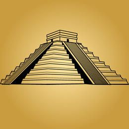 Black & White Mayan Pyramid
