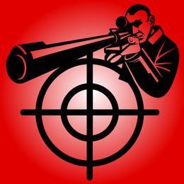Black & White Sniper mit Zielzeichen