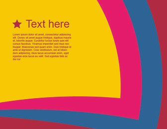 Fondo de rayas de colores con texto de plantilla