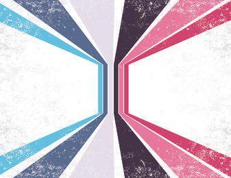 Multicolor Grungy Retro Folded Stripes