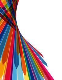 Abstract Multicolor Stripy Arrow Background