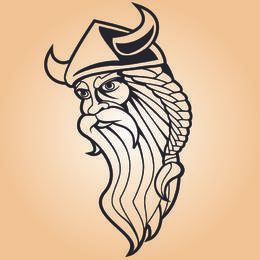 Arte de linha de guerreiro Viking