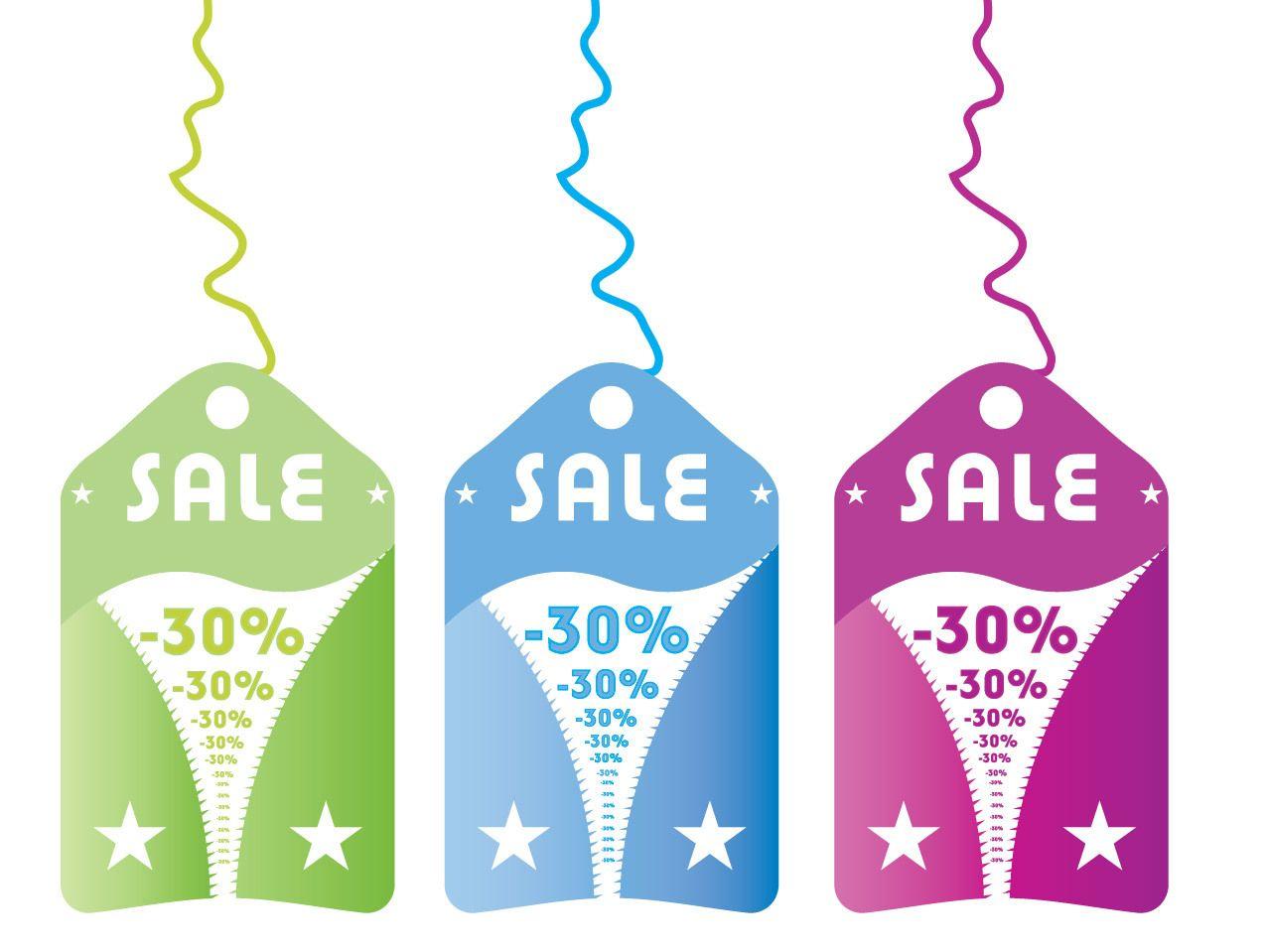 zipper sales tag template vector download