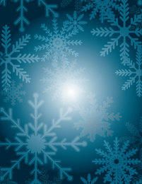 Christmas Snowflakes on Blue Turquoise Background
