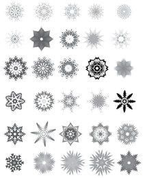 Huge Pack of Decorative Black & White Snowflake