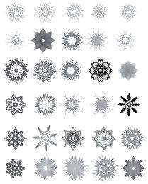Huge Pack of Decorative Black & White Snowflake